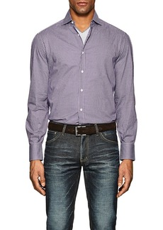 Brunello Cucinelli Men's Checked Cotton Poplin Shirt