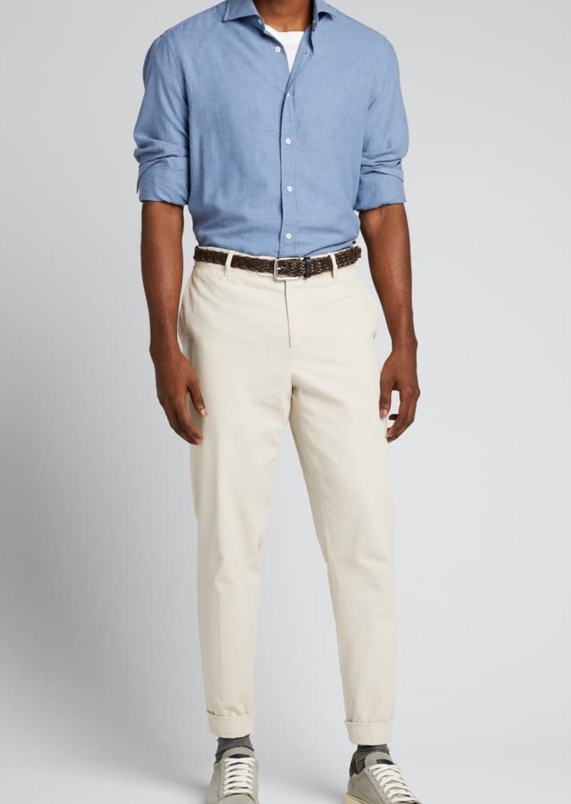 Brunello Cucinelli Men's Chevron Flannel Sport Shirt