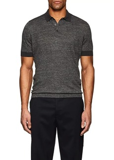 Brunello Cucinelli Men's Colorblocked Linen-Cotton Polo Shirt