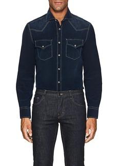Brunello Cucinelli Men's Cotton Corduroy Western Shirt