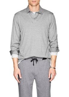 Brunello Cucinelli Men's Cotton-Silk Jersey Long Sleeve Polo