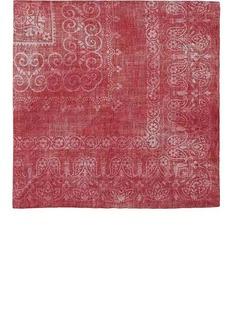Brunello Cucinelli Men's Floral Silk-Cotton Pocket Square