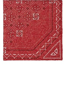 Brunello Cucinelli Men's Geometric-Print Silk-Cotton Pocket Square