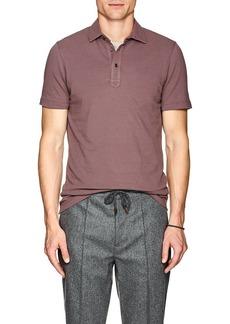 Brunello Cucinelli Men's Piqué Cotton Polo Shirt