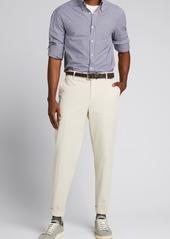 Brunello Cucinelli Men's Poplin Micro-Check Sport Shirt