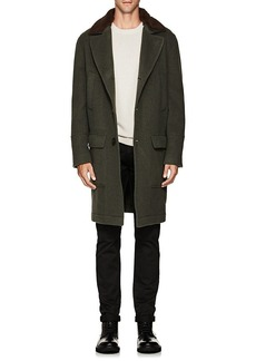 Brunello Cucinelli Men's Shearling-Trimmed Wool-Cashmere Overcoat