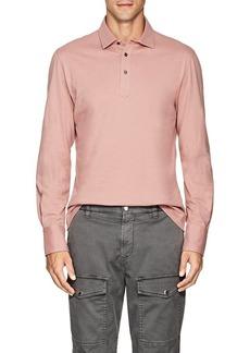 Brunello Cucinelli Men's Slub Cotton Polo Shirt