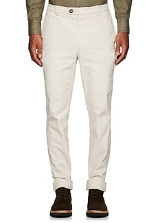 Brunello Cucinelli Men's Stretch-Cotton Classic Leisure Cargo Trousers