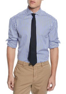Brunello Cucinelli Men's Striped Dress Shirt