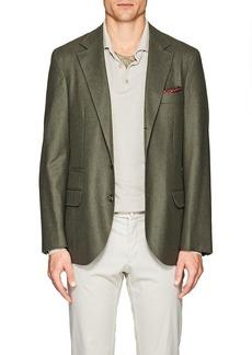 Brunello Cucinelli Men's Wool-Blend Flannel Three-Button Sportcoat