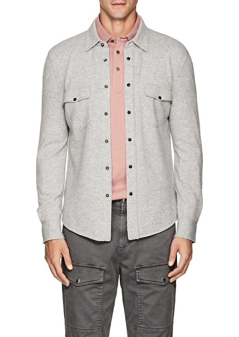 Brunello Cucinelli Men's Wool-Blend Western Shirt