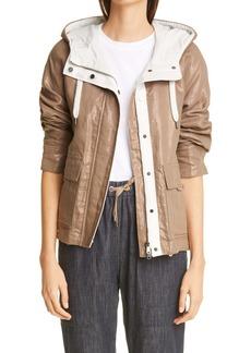 Brunello Cucinelli Metallic Hooded Jacket