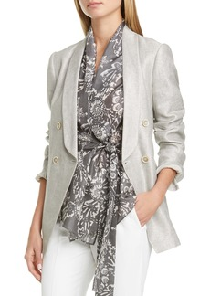 Brunello Cucinelli Metallic Linen Blend Blazer