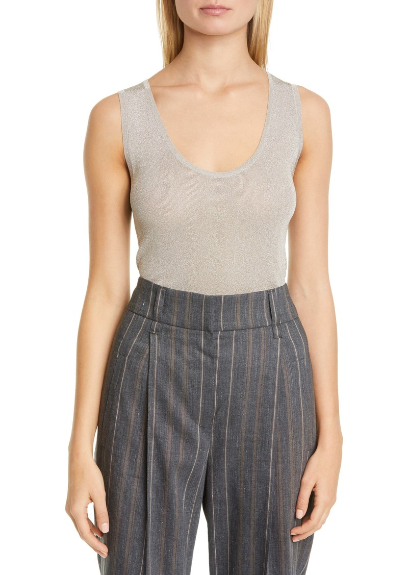 Brunello Cucinelli Metallic Sweater Tank