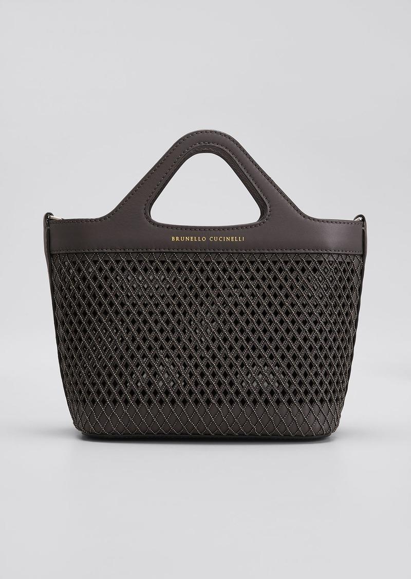 Brunello Cucinelli Mini Monili Laser-Cut Tote Bag