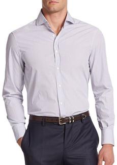 Brunello Cucinelli Ministriped Cotton Button-Down Shirt