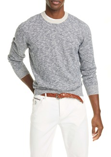 Brunello Cucinelli Mélange Cotton Crewneck Sweater