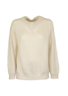 Brunello Cucinelli Mohair And Virgin Wool Sparkling Mesh Sweater
