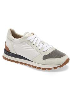Brunello Cucinelli Molini Beaded Toe Low Top Sneaker (Women)