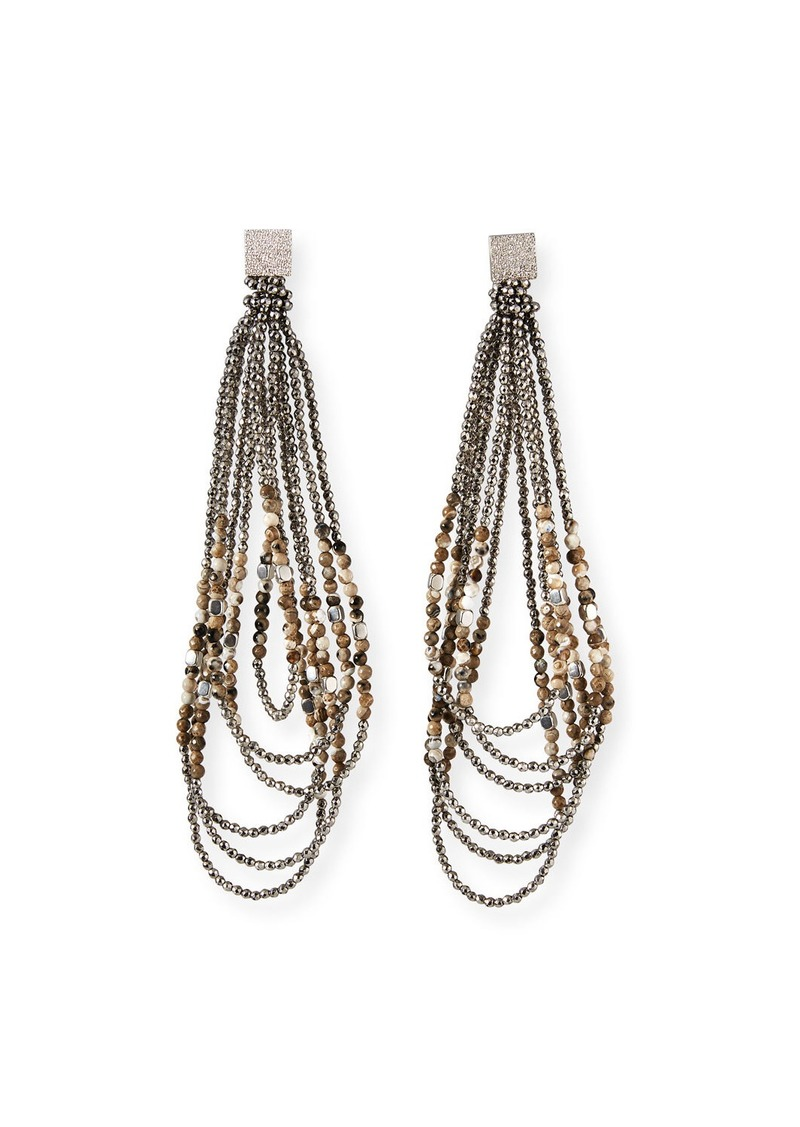 Brunello Cucinelli Monili-Beaded Looped Duster Earrings