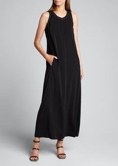 Brunello Cucinelli Monili Beaded Silk Tank Dress