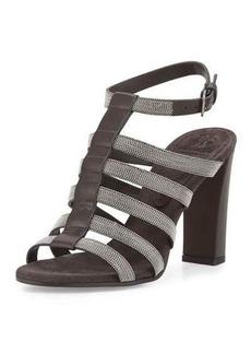 Brunello Cucinelli Monili Caged High-Heel Sandal