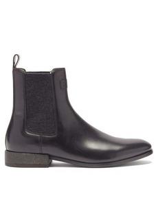 Brunello Cucinelli Monili-chain leather Chelsea boots
