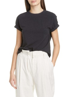 Brunello Cucinelli Monili Collar Stretch Cotton Tee