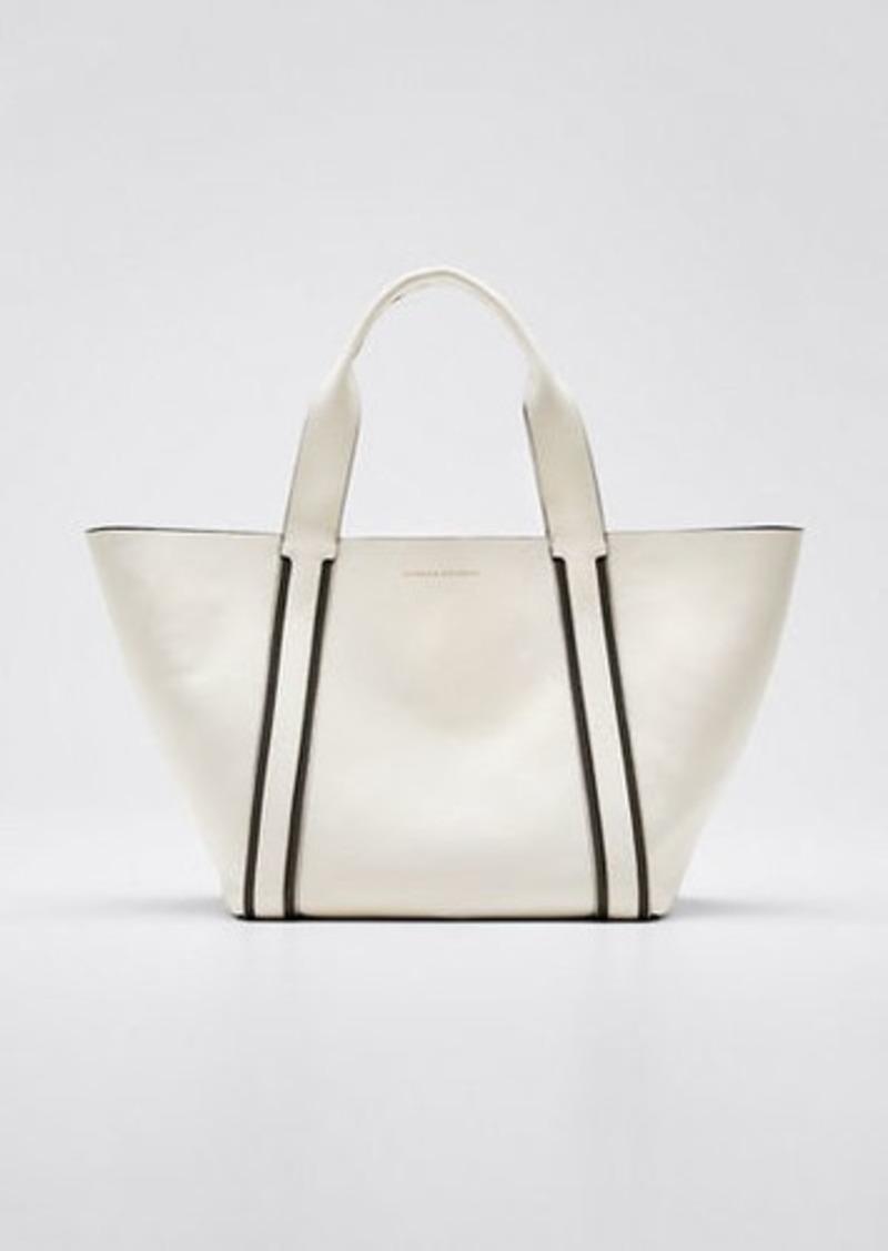 Brunello Cucinelli Monili-Edge Media Shopper Tote Bag