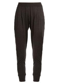 Brunello Cucinelli Monili-embellished cashmere-blend track pants