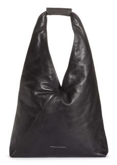 Brunello Cucinelli Monili Embellished Leather Hobo Bag