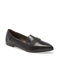 Brunello Cucinelli Monili Embellished Pointed Toe Loafer (Women)