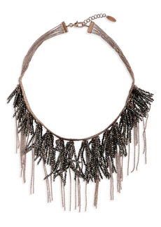 Brunello Cucinelli Monili Fringe Collar Necklace