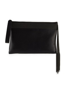 Brunello Cucinelli Monili Fringe Wristlet Clutch Bag