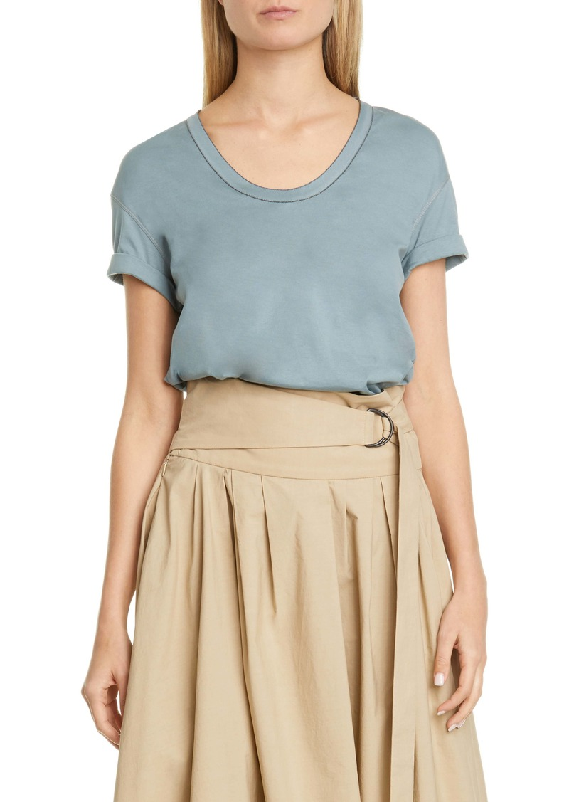 Brunello Cucinelli Monili Trim Tee