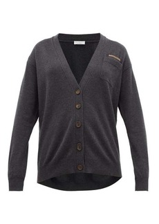 Brunello Cucinelli Monili-trim V-neck cashmere cardigan