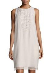 Brunello Cucinelli Organza-Embellished Sleeveless Dress