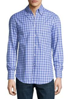 Brunello Cucinelli Panama Check Cotton Sport Shirt