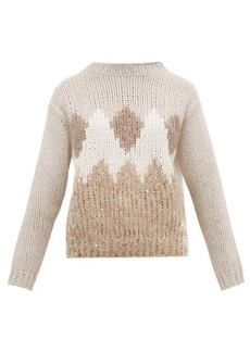 Brunello Cucinelli Pattern-intarsia virgin-wool blend sweater