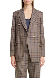 Brunello Cucinelli Prince of Wales Check Double Breasted Blazer