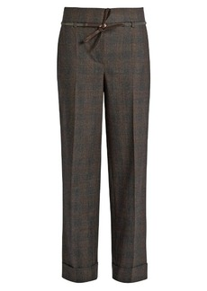 Brunello Cucinelli Prince of Wales-checked stretch-wool trousers