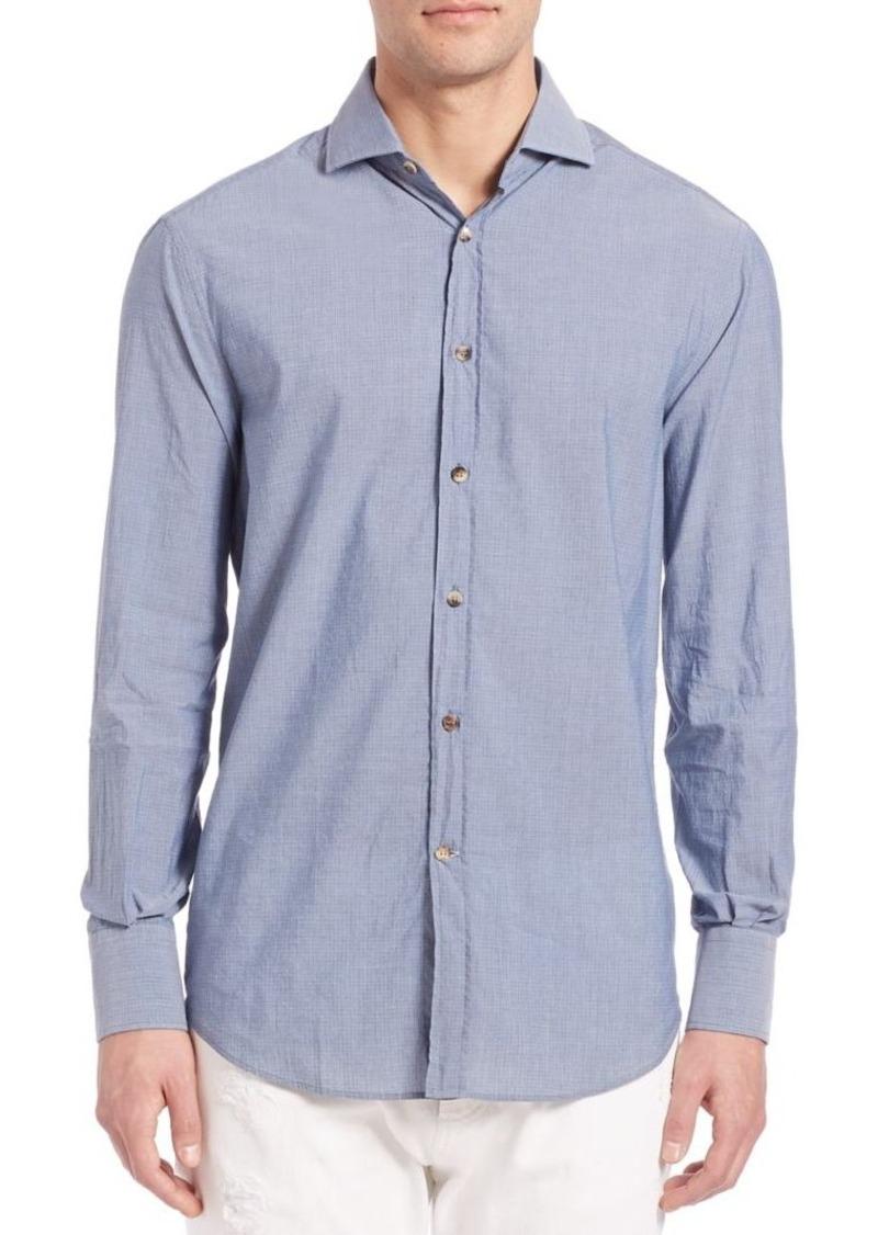 Brunello Cucinelli Printed Button-Down Shirt