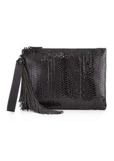 Brunello Cucinelli Python Monili-Tassel Wristlet Bag