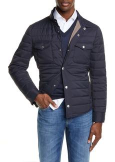 Brunello Cucinelli Quilted Nylon Shirt Jacket