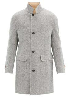 Brunello Cucinelli Reversible herringbone wool-blend coat