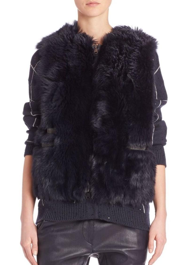Brunello Cucinelli Reversible Lamb Fur Vest