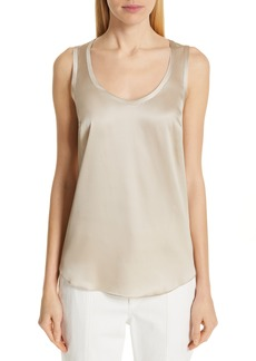 Brunello Cucinelli Reversible Stretch Silk Tank