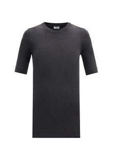 Brunello Cucinelli Ribbed cotton-blend jersey T-shirt
