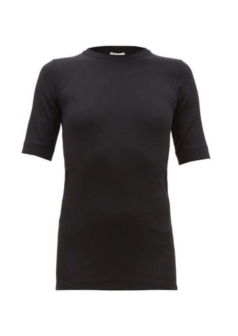 Brunello Cucinelli Ribbed cotton-blend T-shirt