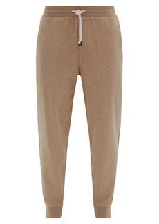 Brunello Cucinelli Ribbed-cuff cotton-blend track pants
